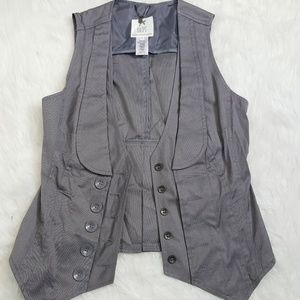 D.E.P.T. BV Dillards Gray Hipster fitted Vest